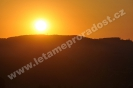Západ slunce ze vzduchu