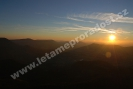Západ slunce nad Ondřejníkem